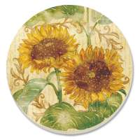 A Reflections of the Sun Set of 8 Sunflower Coasters