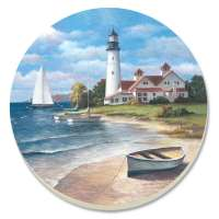 Coastal Coasters Lighthouse Mural  Set of 8