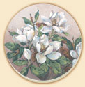 Magnolia Inspiration Floral Coaster Set of 8