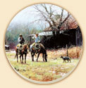 Western Brush Country Cowboys Horses Coaster Set of 8