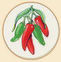 Red & Green Chili Peppers Southwestern Coaster Set of 8