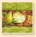 Fruit & Cheese Delectables Coaster Set of 8