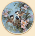 A set of 8 Chickadees Birds Coasters