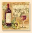 Wine & Sunflower Wine Coaster Set of 8
