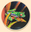 Costa Rican Frog Wildlife Coaster Set of 8