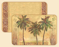 Island Palm Tree Wipe-clean Vinyl-Plastic Placemat