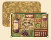 4 Grape - Wine Placemats - Grand Vin