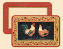 A Francesco Rooster Placemat - Set of 8