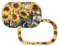 A Placemat Set - Sunflowers - Wipe-clean Vinyl-Plastic