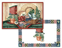 A Patchwork Quilt design Placemat Set Country Sampler
