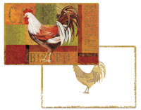 A Gourmet Rooster Wipe-clean Vinyl-Plastic Placemats