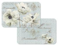 A Blue Summer Flowers Vinyl-Plastic Floral Placemats
