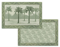Placemats Set-12- Oasis Palms Palm Tree  Vinyl/Plastic