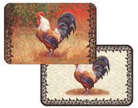 A Placemat Set Wrought Iron Rooster