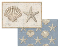 A Coastal Beauty Seashell/Beach Vinyl/Plastic Placemat