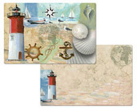 4 pc Racepoint Lighthouse Coastal Beach Nautical Theme Placemat