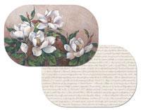 Magnolia Inspiration Floral  Placemats Vinyl-Plastic