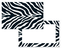 A Cabin/Lodge/Wildlife Animal Skin Placemat - Zebra