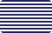* 4 Navy Blue and White Stripe Translucent Plastic Placemats