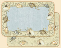 4 - Seashells Beach/Coastal Placemats