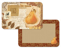 A Set of 4 Fruit Placemats - Tuscan Visit Pear
