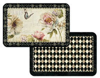 A French Bouquet Floral Placemats Vinyl/Plastic