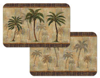 A Global Palm Tree Placemats Wipe-clean Vinyl/Plastic