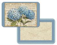 A Blue Hydrangeas Floral Vinyl/Plastic Placemats