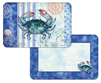 * NEW Sea Stripes Coastal Beach/Crab Plastic Placemat