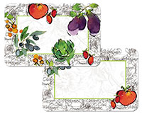* NEW Alfresco Italia Abstrsct/Vegetables plastic Placemat