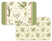 4 Aromatic Herbs-Vinyl-Plastic Placemats