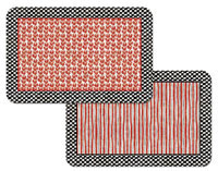 Placemats  Vinyl-Plastic  Set-12- Country Checks