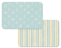 A Coastal Beach -Plastic Placemat Set-12-Nautical Pattern