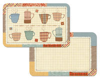 A Coffee Theme - Patchwork Cafe Placemats Vinyl/Plastic
