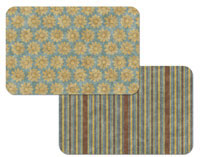 Placemats Vinyl-Plastic Set-12- Sunflower Pattern