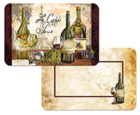 * NEW Reserve Vintage Wine/Grape Vinyl Plastic Placemats