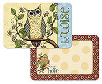 * NEW Wise Owl Abstract Art Inspirational Plastic Placemat