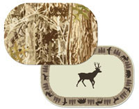 A Cabin/Lodge/Bear/Deer Placemats-Hunters Camo