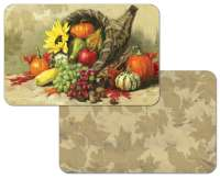 * Apple Grape Pumpkin Cornucopia Fruit Placemats