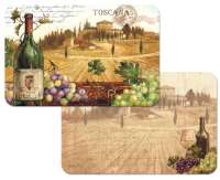 * 4 Italy Scene Grape-Wine With A View Plastic Placemats