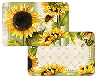 * 4 Sunflowers in Bloom Vinyl-Plastic Placemats