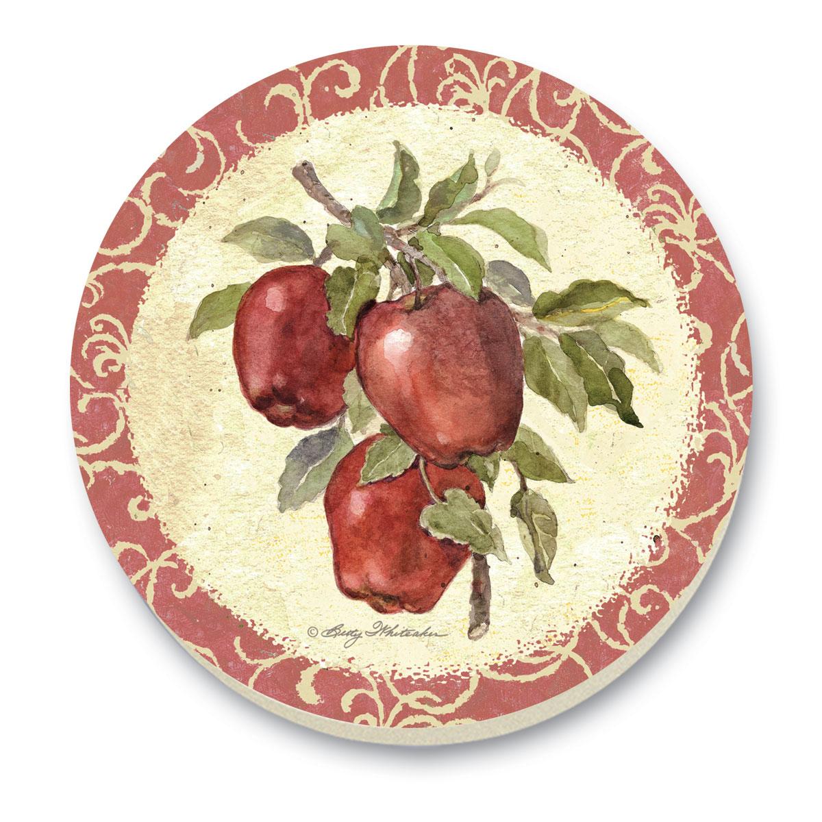 Old Orchard Apples Cork-Backed Tile Trivet Set of 2