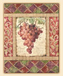 Tuscan Grapes-Glass Cuttingboard CLEARANCE