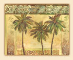 Tempered Glass Cuttingboard - Island Palms