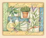 Cuttingboard Tempered Glass 15x12 - Herbs Collage