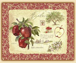 Apple Design 15x12  Tempered Glass Cuttingboard Old Orchard