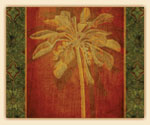 Patterned Palm Trees Tempered Glass 15x12  Cuttingboard
