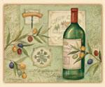 A Tempered Glass 15x12  Cuttingboard  Wine and Olives