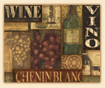 Grape - Wine Label Collage Glass 15x12  Cuttingboard