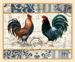 12x15 Glass Cuttingboard - French Rooster